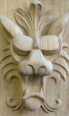 Resultado de imagen de carving wall mask Maureen hockley