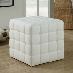 Shop a great selection of Monarch Specialties Ottoman - Cube Chair - Modern Tufted Cube Ottoman, Faux-Leather (White). Find new offer and Similar products for Monarch Specialties Ottoman - Cube Chair - Modern Tufted Cube Ottoman, Faux-Leather (White).