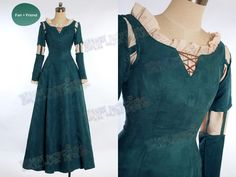Brave Princess Merida Costume Outfit TEAL GREEN, SIZE LADY 70 (fan-store.net) $118