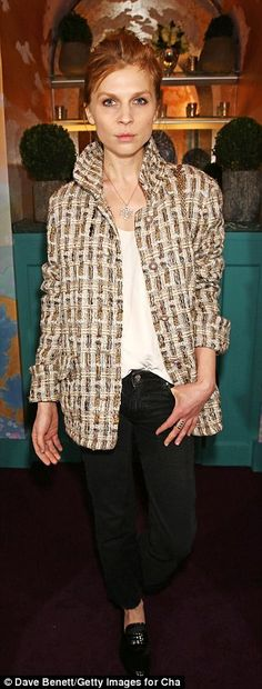 What a turnout: Kristin Scott Thomas chose a glittering pleated dress while Clemence Poesy stood out in her statement jacket Parisienne Style, Clemence Poesy, Parisian Chic Style, Sheer Lace Dress, French Girls, French Chic, Kristin Scott, Scott Thomas, Blazer