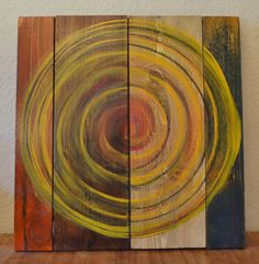 Original Abstract Solar Vortex Painting Reclaimed by IGCdesigns