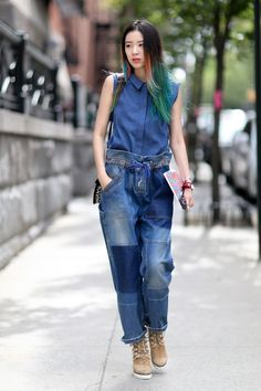 Who: Irene Kim What: Model, It-girl, global brand contributor for Estée Lauder Why: This girl first made a splash on the street style scene in 2014 thanks to her rainbow-colored hair and bold sense of style.  Read more: http://stylecaster.com/ultimate-guide-50-street-style-allstars/#ixzz3lGKVZMul