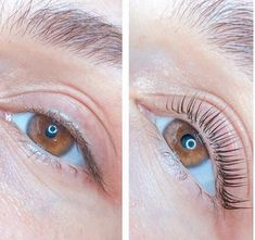 Lash Lift Before & After ✨ by 💕 ⠀ What is Lash Lift? Lash Lift Before & After ✨ Modern Hairstyles, Permed Hairstyles, Eyelash Lift And Tint, Using A Curling Wand, Different Types Of Curls, Getting A Perm, Really Long Hair, Air Dry Hair, Natural Lashes
