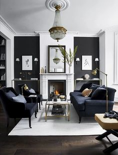 Fabulous Gorgeous Black Living Room Ideas With Gorgeous Black Living Room Ideas. Trendy Gorgeous Black Living Room Ideas With Gorgeous Black Living Room Ideas. Fabulous Gorgeous Black Living Room Ideas With Gorgeous Black Small Living Room Furniture, Living Room Grey, Living Room Sets, Interior Design Living Room, Home And Living, Cozy Living, Grey Room, Black White And Grey Living Room, Grey Interior Design