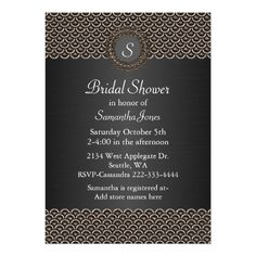 See MoreMonogramed Metallic Look Bridal Shower Invitationyou will get best price offer lowest prices or diccount coupone