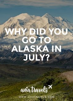 """WHY DID YOU GO TO ALASKA IN JULY? • When picking a place to vacation for the 4th of July one usually doesn't think of Anchorage Alaska. But some of us aren't what you call typical and and say """"why the heck not"""", I'm one of those people. Honestly I'm not a patriotic person at all, and if spending my 4th meant doing something out of the ordinary I'm all over that. This year I got on a 6.5 hr flight to good ol' Anchorage, and I probably had one of the best 4th's ever possible. I even saw…"""