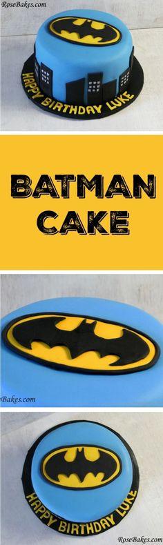Batman Cake RoseBakes
