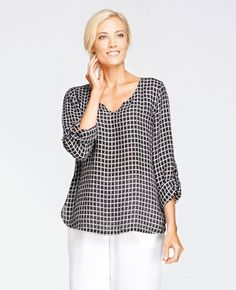 FLAX Design's FLAX Bold 2015 Special Tee at Fg Clothing is on sale. #FLAXdesign women's linen pullover blouse