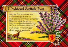 TARTAN: Vintage Tartan Plaid Postcard... A Traditional Scottish Toast