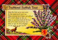TARTAN: Vintage Tartan Plaid Postcard... A Traditional Scottish Toast