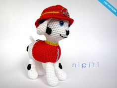 This is a crochet pattern PDF for Marshall - NOT the actual finished Puppy at the photos! If you dont crochet yourself you can buy finished Marshall or
