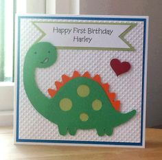 Love this cute little dinasaur card.