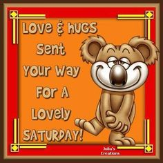 Hope you have a blessed Saturday!  You are not alone - You matter 0 Someone is thinking about you!