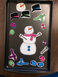 One of 21 Snowman and Winter themed speech therapy activities designed to be used after reading the story, Snowmen at Night by Caralyn Buehner. Activities for language and artic, plus the adorable Build a Snowman Game. #speechtherapy $