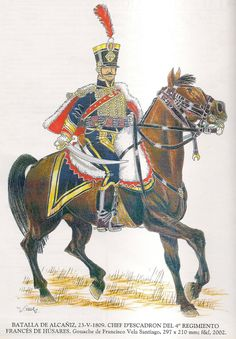 4º de Húsares Francés. Batalla de Alcañiz 1809