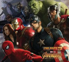 "NEW ""THE ROAD TO AVENGERS: INFINITY WAR"" ART! Marvel are releasing a new book featuring all of the concept and promo art from MCU movies leading up to 'Avengers: Infinity War'. The book will be titled ""The Road to Infinity War: Art of the Marvel Cinematic Universe' and will be released May 1st."