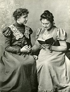 Anne Sullivan with Helen Keller. Visit the Perkins Archives Flicker page: http://www.flickr.com/photos/perkinsarchive/collections/