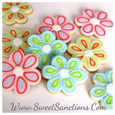 One Dozen Flowers Custom Designer Cookies! Get Wells, Baby and Bridal Showers, Thank You's and I love You's Etsy SweetSanctionsLLC
