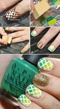 Pakistan Independence Day Nails - Tutorial