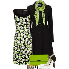 Lime Accents, created by kajones722 on Polyvore