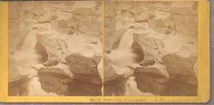 "1873 Kilburn Brothers Stereoview #17 - "" Falls of the Ammonoosue "" New Hampshire"