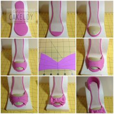 high heel shoe template for fondant High Heel Cakes, Shoe Cakes, Cupcake Cakes, Purse Cakes, Cupcakes, Barbie Shoes, Doll Shoes, Barbie Clothes, Cake Topper Tutorial