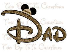 Disney Dad Mickey Mouse Safari Printable by TwoByTuTuCreations, $3.50