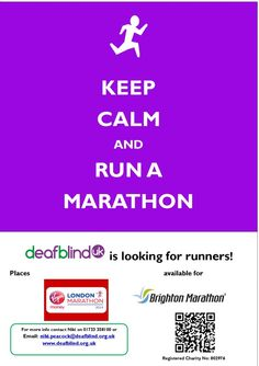 Run the Virgin London Marathon 2014 for Deafblind UK London Brighton, London Marathon, Marathon Running, Fundraising, Charity, Clever, Challenges, Fundraisers