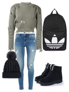 """""""School style"""" by marjoriepelletier on Polyvore featuring Ted Baker, adidas Originals and Topshop"""