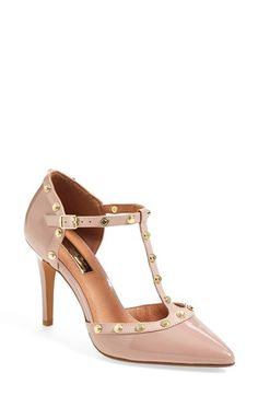 Halogen® 'Martine' Studded T-Strap Pumps (Women) | Nordstrom