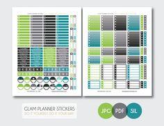 Free Monthly Printable Planner Stickers Set - Gentleman - Erin Condren
