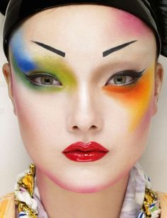 Neo Geisha | Yumi Lambert is the colorful geisha for Jalouse March 2013.