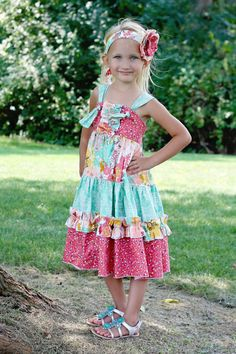 Aubrey's Tiered Ruffled knot Dress PDF by CreateKidsCouture