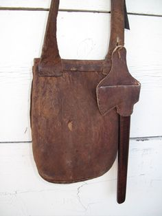 Shawn Webster Pouch with Mike Beathe Ax Leather Bags Handmade, Leather Craft, Shooting Bags, 1800s Clothing, Primitive Survival, Longhunter, 18th Century Fashion, Leather Holster, Leather Pattern