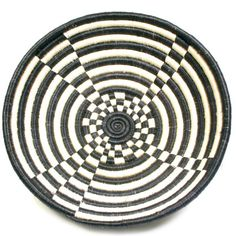 Plateau Basket Black/White  by Indego Africa Fair Trade Accessories