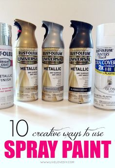 10 Spray Paint Tips: what you never knew about spray paint. So good to know! Read before your next project! 10 Spray Paint Tips: what you never knew about spray paint. So good to know! Read before your next project!