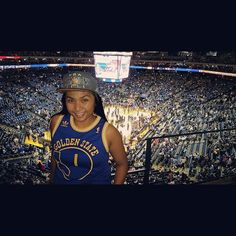 Opening tomorrow, but who needs sleep when I can be at the game.  Note to self: can't wear hats because my hair is to silky. #firstworldproblems  #dubnation #dubs #Warriors #goldenstatewarriors