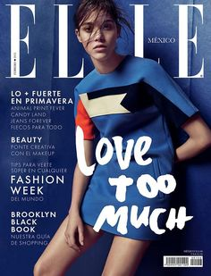 Pauline Hoarau for Elle Mexico February 2015 Fashion Magazine Cover, Cool Magazine, Fashion Cover, Elle Magazine, Magazine Covers, Pauline Hoarau, Elle Mexico, Barbie Ferreira, French Models