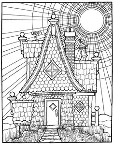 The House From Coloring Book EQUINOX By Stephen Barnwell
