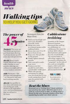 """How to get the most out of fitness walking - great to know! I especially love the """"walk by water"""" tidbit. :) Though I'd always heard 30 minutes of cardio was enough, so this suggestion is interesting. Health Benefits Of Walking, Walking For Health, Walking Exercise, Walking Workouts, Health And Wellbeing, Health And Nutrition, Fitness Diet, Health Fitness, Fitness Pal"""