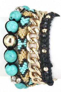 Turquoise Chain Necklace OR Wrap Bracelet – NanoNano