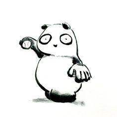 【一日一大熊猫】2015.11.21 明日は地区のソフトボール大会に参加するよ。 さて、そろそろ練習を始めないとな。。。 #パンダ #ソフトボール