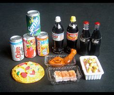 Dollhouse Miniature Convenient Store Cafe Food Set D by BEADSPAGE, $12.00