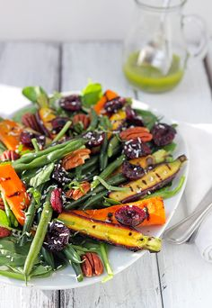 End of Summer Salad:  trick your taste buds into believing it's sunny and 80 degrees. (vegan)