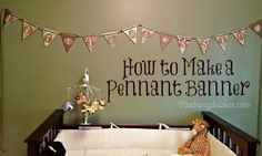 How to Make a Pennant Banner | @PluckingDaisy #DCWV #RangerInk #Tutorial