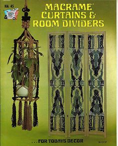 Macrame Curtains & Room Dividers For todays Decor  Macrame Pattern Book HA 45