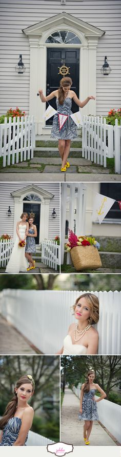 Nautical Wedding in Red, Yellow and Blue. Photography by @Carla TenEyck http://www.carlateneyck.com / Art Direction by http://www.eventjubilee.com / Styling by @The White Dress by the shore http://www.thewhitedressbytheshore.com / Paper by @Nichole Michel http://www.coralpheasant.com / Floral Design by @Tony Palmieri http://www.amoderngarden / Beauty by http://www.danabartone.com