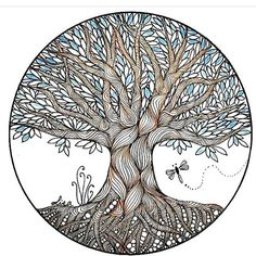 Tree of Life zentangle.