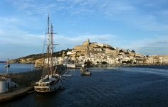Ibiza & Ibiza Dalt Vila zeen from the harbour waters © Mireille Velthuis