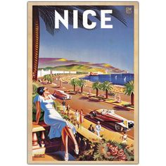 Trademark Fine Art Nice by Eff de Hey Canvas Wall Art 30x47Inch -- Details can be found by clicking on the image. (This is an affiliate link)